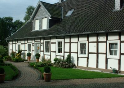 Fachwerkfassade restauriert